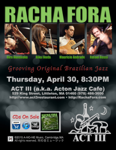 Racha Fora ACT III Debut Thursday April 30