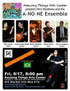 the A-NO-NE Ensemble at Amazing Things Art Center