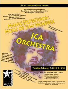 Manic Depression: Music of Jimi Hendrix: JCA Prchestra