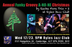 Annual Funky Grooving A-NO-NE Christmas by Racha Fora at Ryles Jazz Club
