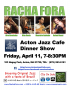 Racha Fora Dinner Show at Acton Jazz Cafe, Fri, April 11