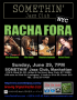 Racha Fora in NYC! @SOMETHIN' Jazz Club, Sun, June 29