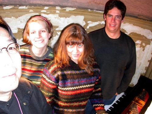 Helena Baillie Recording team at Steinway Studio, Boston